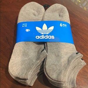 Adidas men's no show 6 pair socks